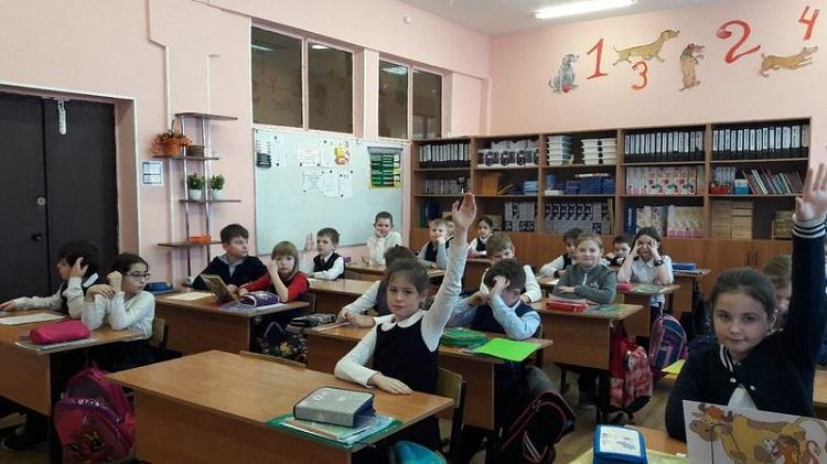 Ученики школы №880 на уроке