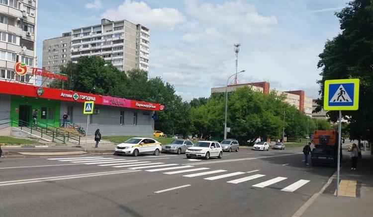 Новый пешеходный переход обустроен на улице Красного Маяка