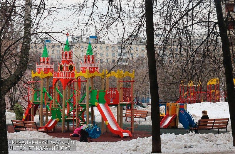 Детская площадка в районе Чертаново Центральное